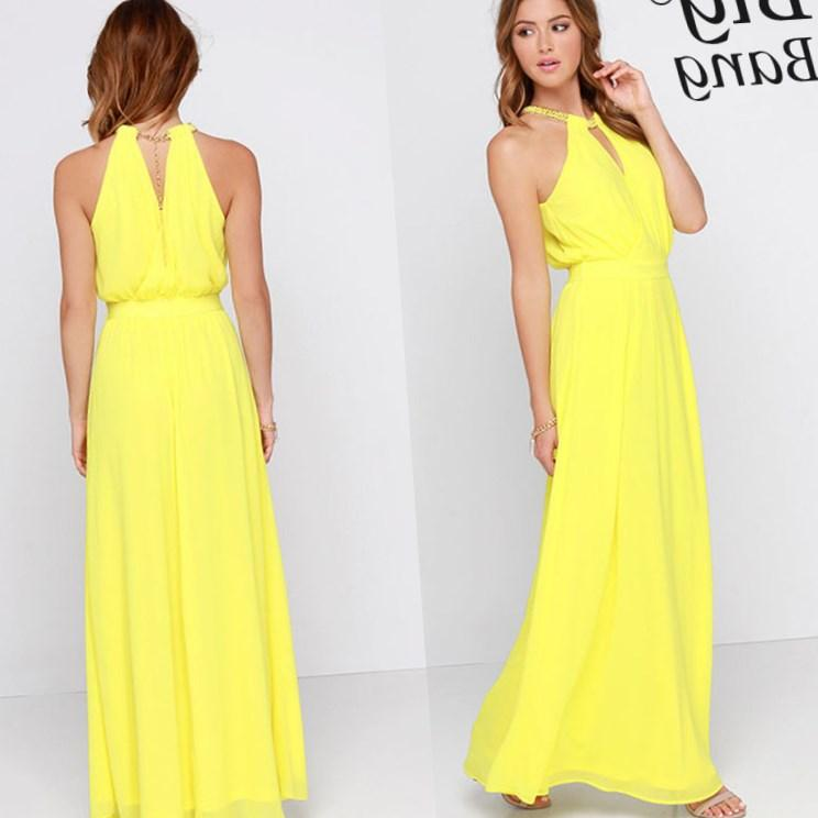 Yellow Plus Size Maxi Dress Pluslook Collection