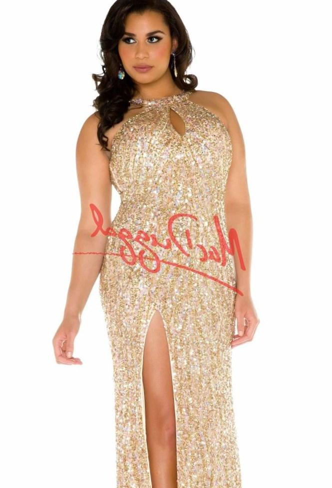 2017 Luxury Plus Size Gold Sequins Long Evening Dresses Formal Gowns Y Party Masquerade Dress Robe