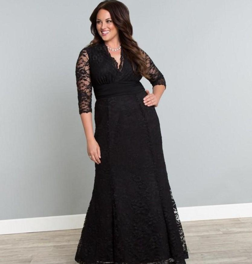 plus size black bridesmaid dress pluslookeu collection