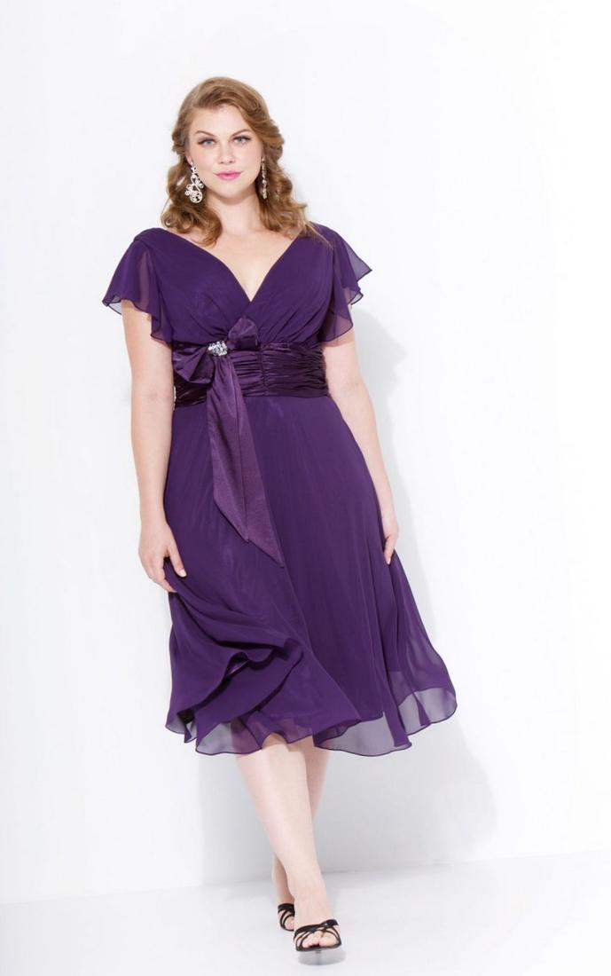Eliza J Lace  Faille Dress (Plus Size)
