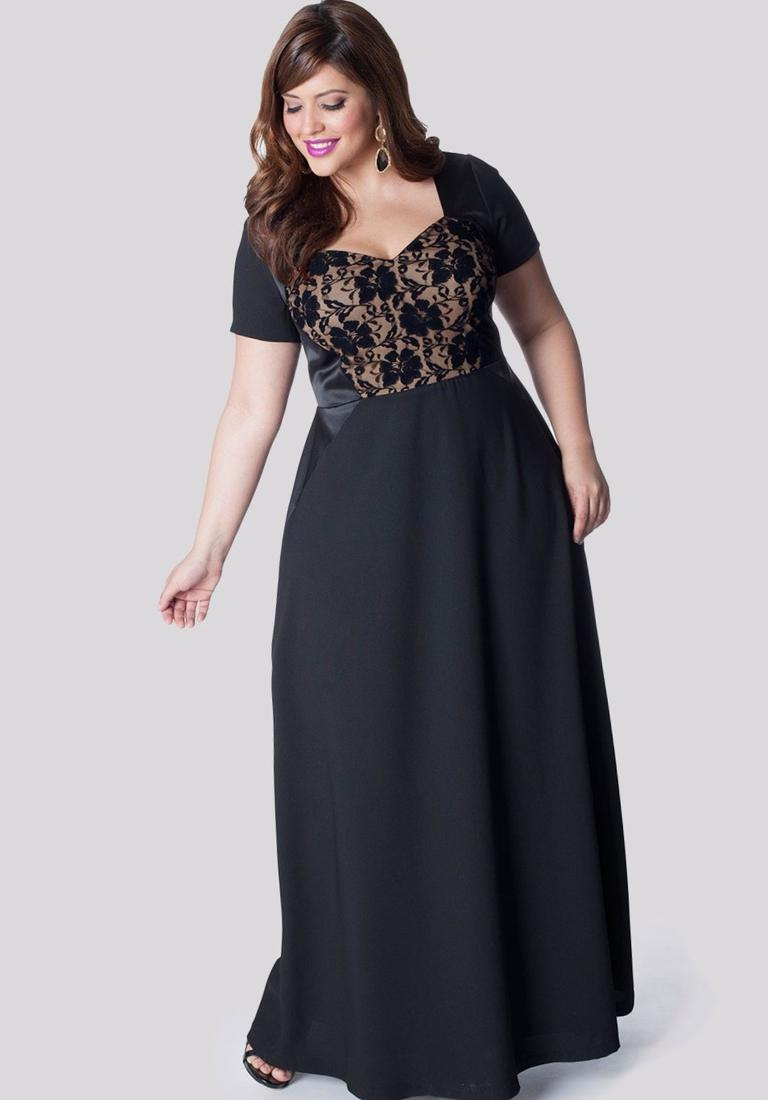 Plus Size Black Evening Dresses - Plus Size Tops