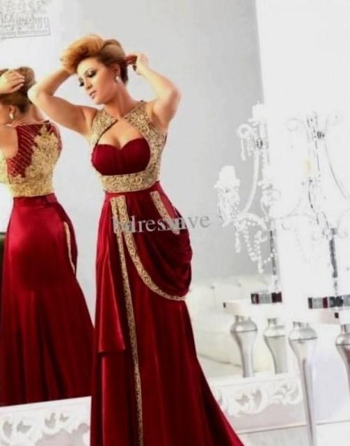 Red Evening Dress 2017 Bride Party Dress Plus Size Lace Beading Evening Gown Sexy Prom Dress