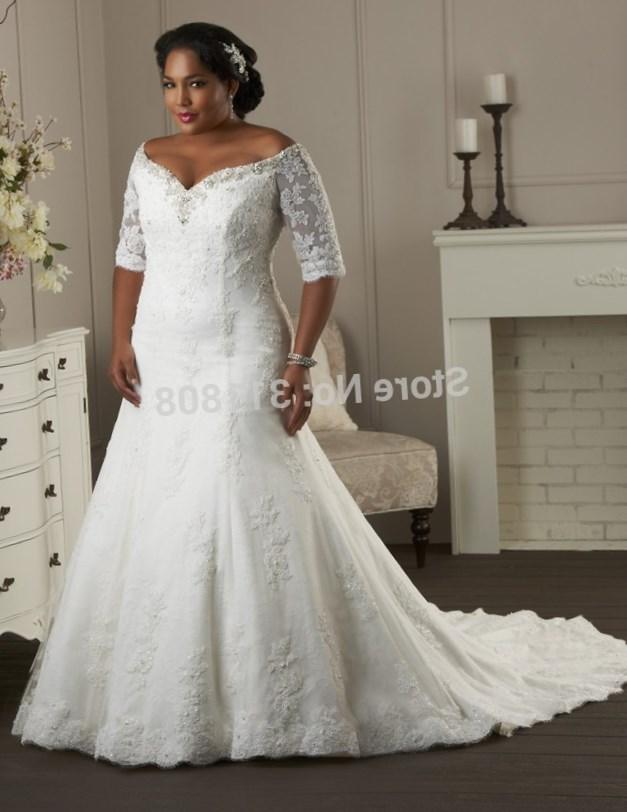 Plus size off the shoulder wedding dresses - PlusLook.eu Collection