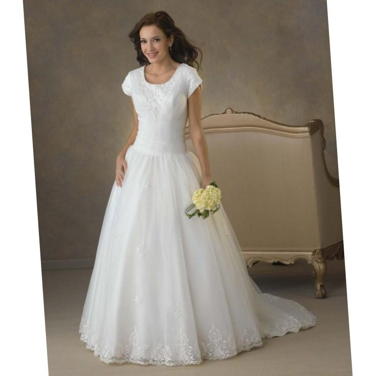 Modest 2nd wedding dresses designer modest second wedding for Modest wedding dress designers