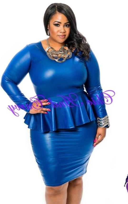 Image 1 of Praslin Plus size Peplum Dress With Ruffle Detail