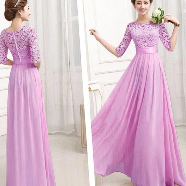 Pink maxi dress plus size - PlusLook.eu Collection