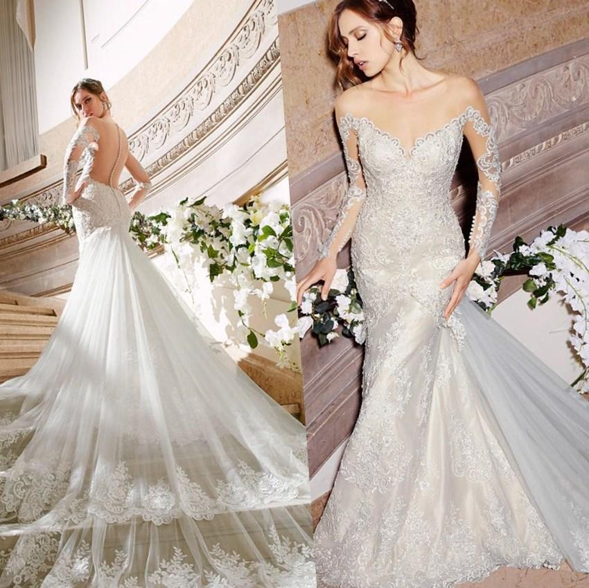 Plus Size Wedding Dress 3131 Venice Lace Appliques on Net Trimmed with Beaded Embroidery