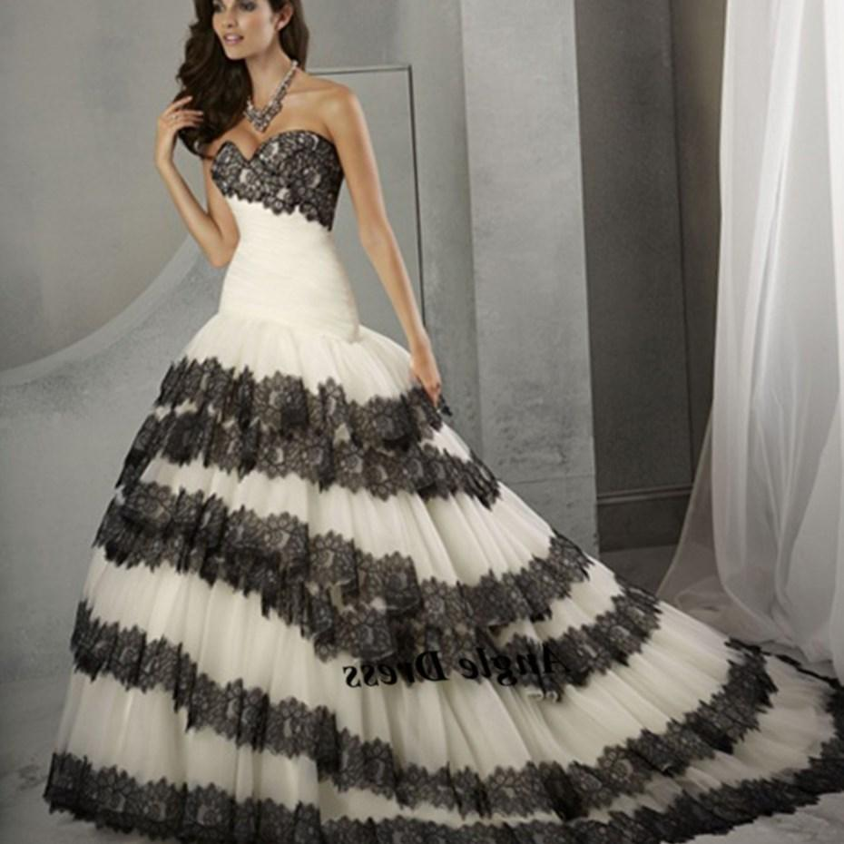 Black White Wedding Dress. black white wedding dress are the decision of many brides today, while they select this shade not just for the slimming impact,