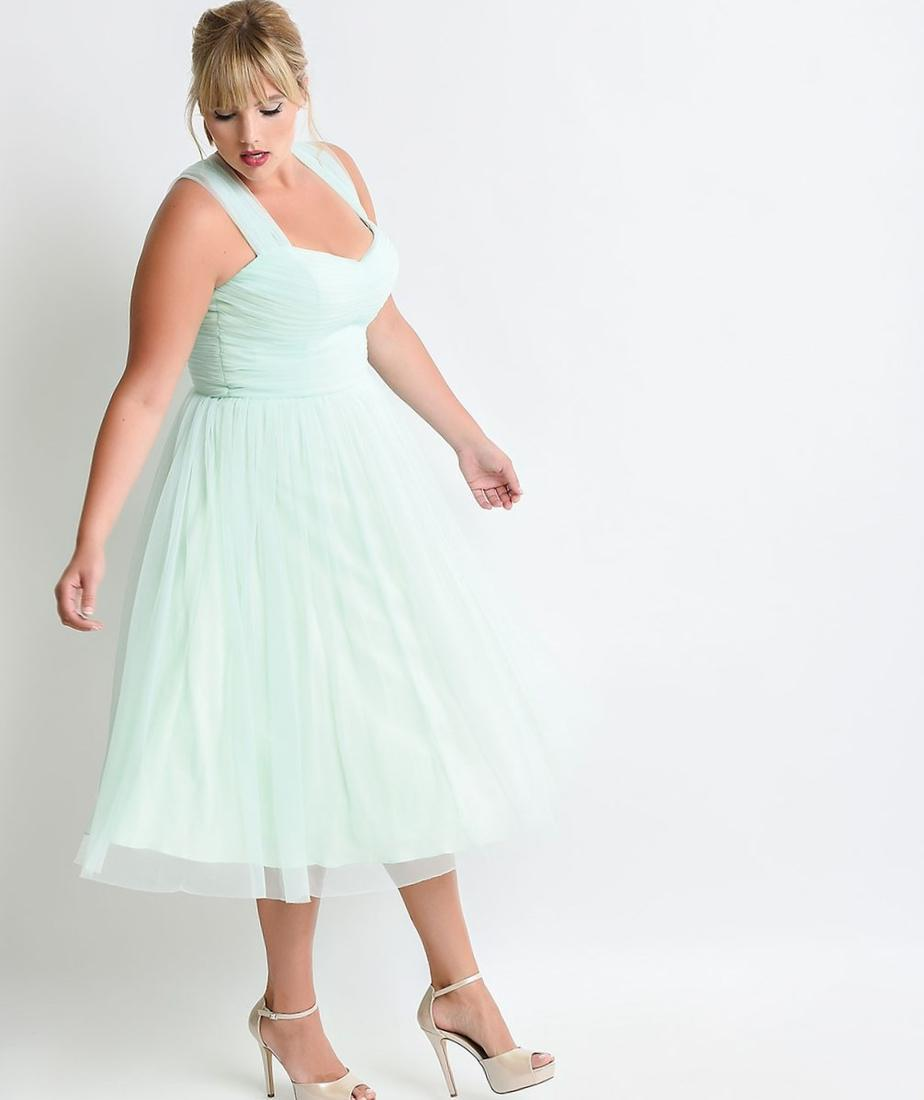 Love Squared Plus Size Short-Sleeve Lace A-Line Dress