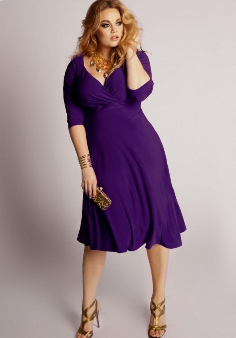 Plus Size Purple Dress – Fashion dresses