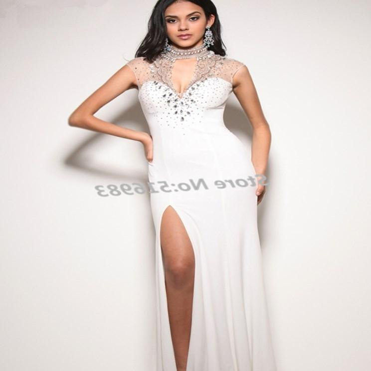 The white formal dress is very simple which could show your simple charming totally at the same time the chiffon fabric is very comfortable \u2026