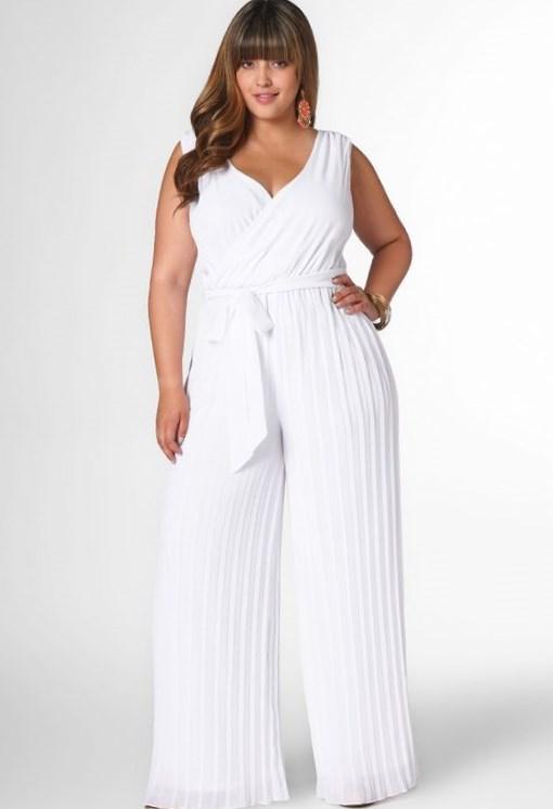 Plus Size White Wrap Dress Pluslook Eu Collection