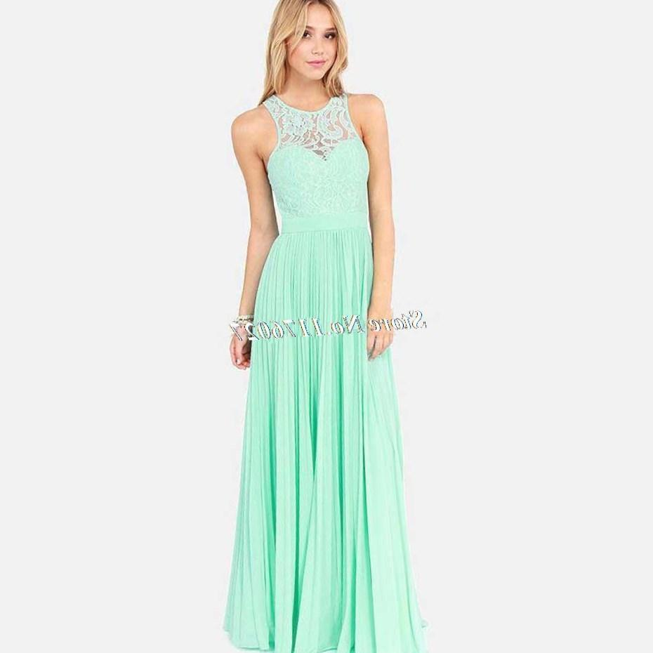 2017 wholesale plus size dresses lace in mint green dress sleeveless/ xxxl maxi dresses lace