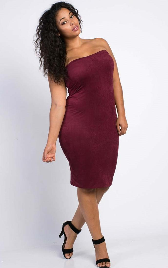 Plus Size Tube Dress Pluslook Collection
