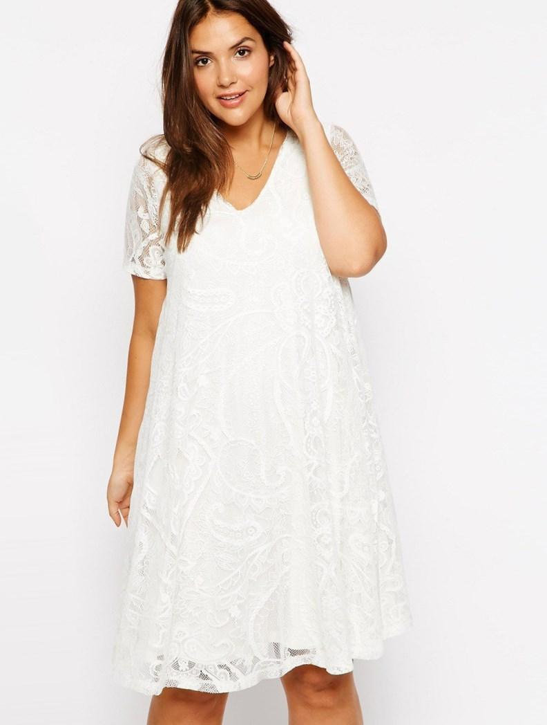 White casual dresses plus size - PlusLook.eu Collection