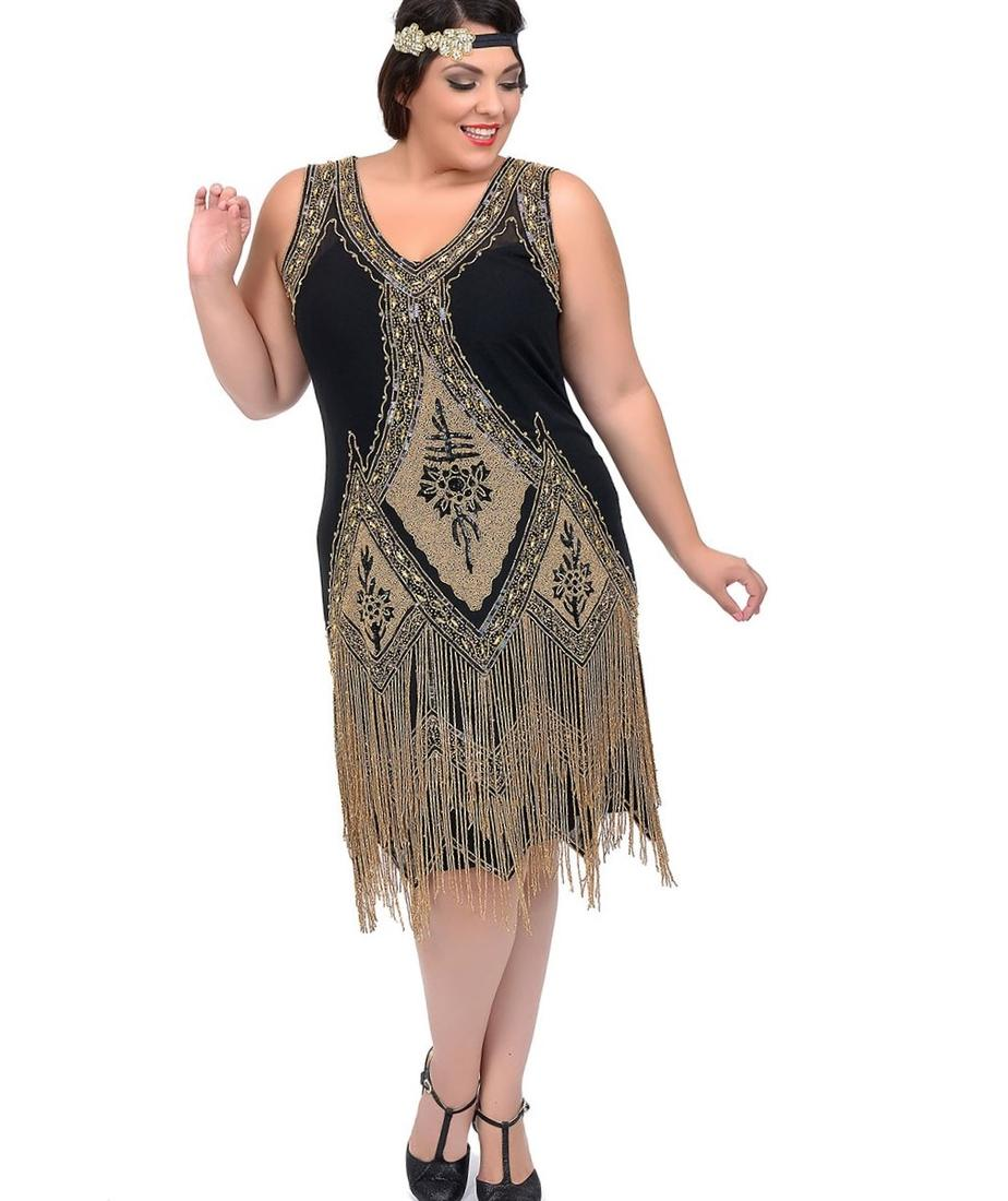 1920s Dresses Plus Size Pluslook Eu Collection