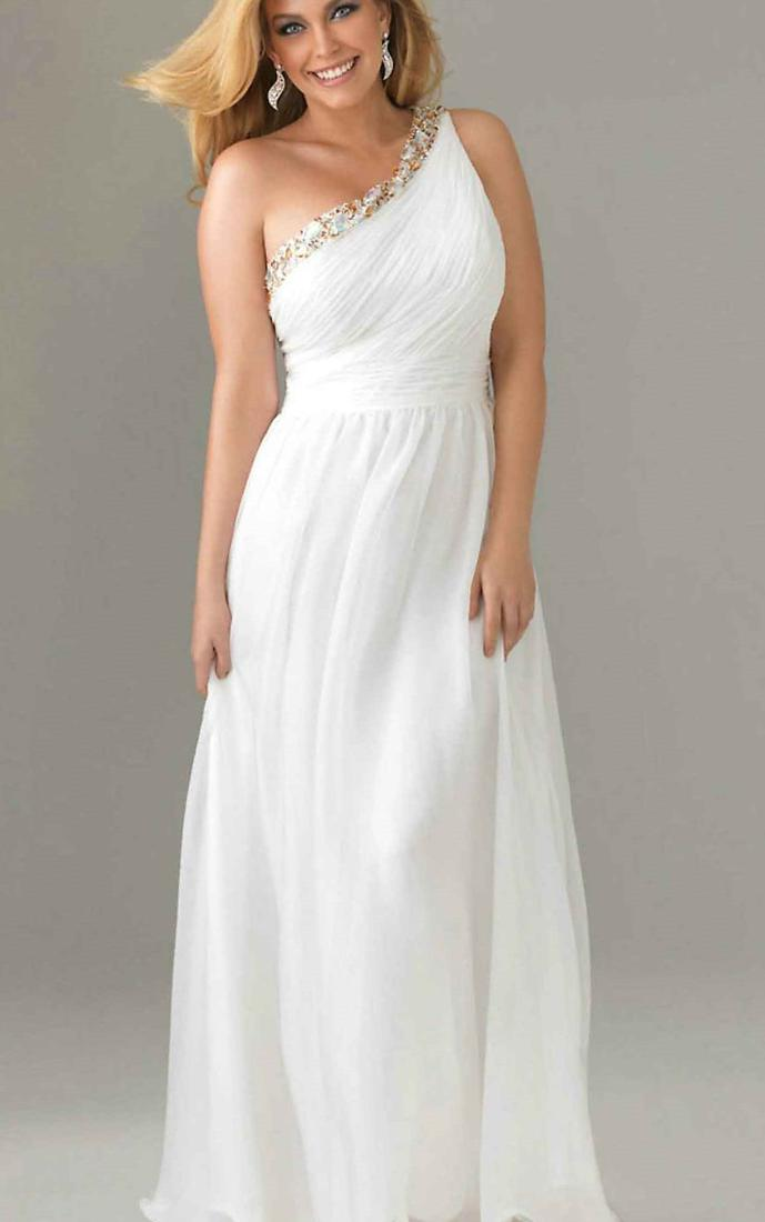 Plus Size White Maxi Dress Cotton Boutique Prom Dresses