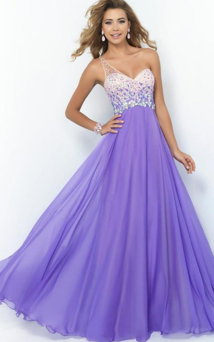 Lavender chiffon maxi dress