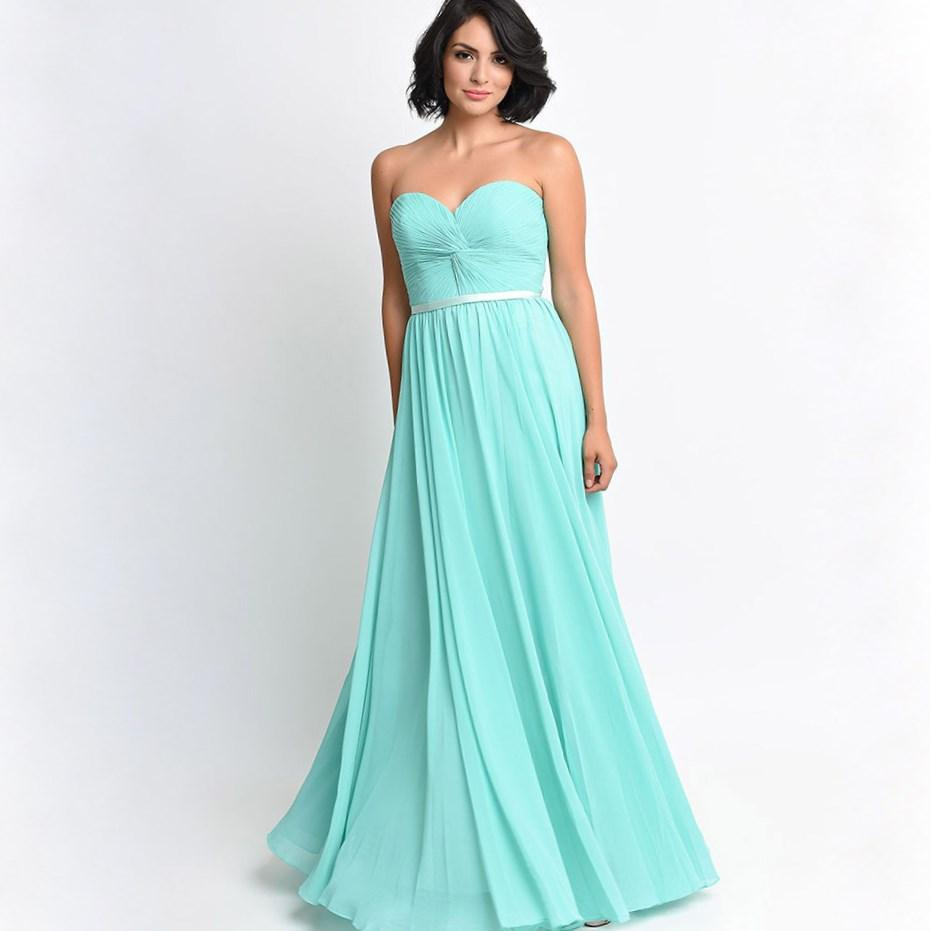 Tulle And Organza V-neck Shoulder Straps Long Mint Green Bridesmaid Dresses Plus Size 2017