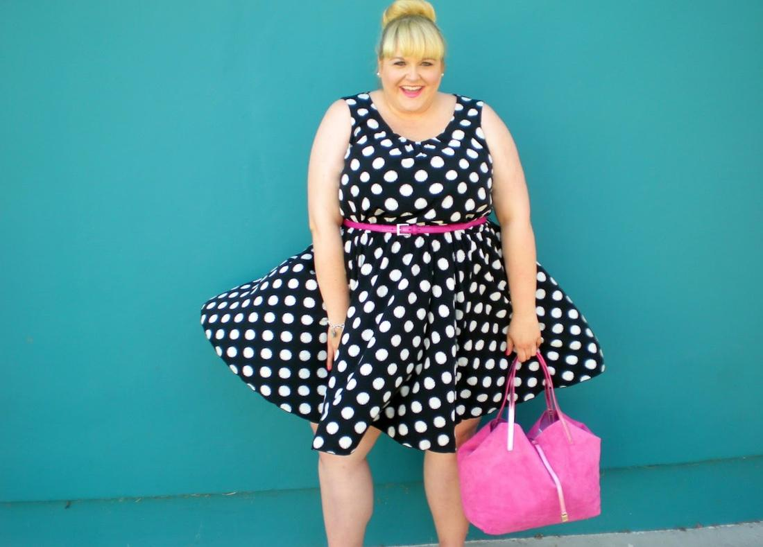 Black and white summer dress plus size