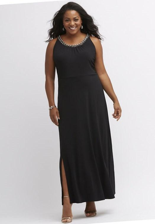 Image 1 of Club L Plus Size Maxi Dress With Wrap Front In Ditsy Floral Print