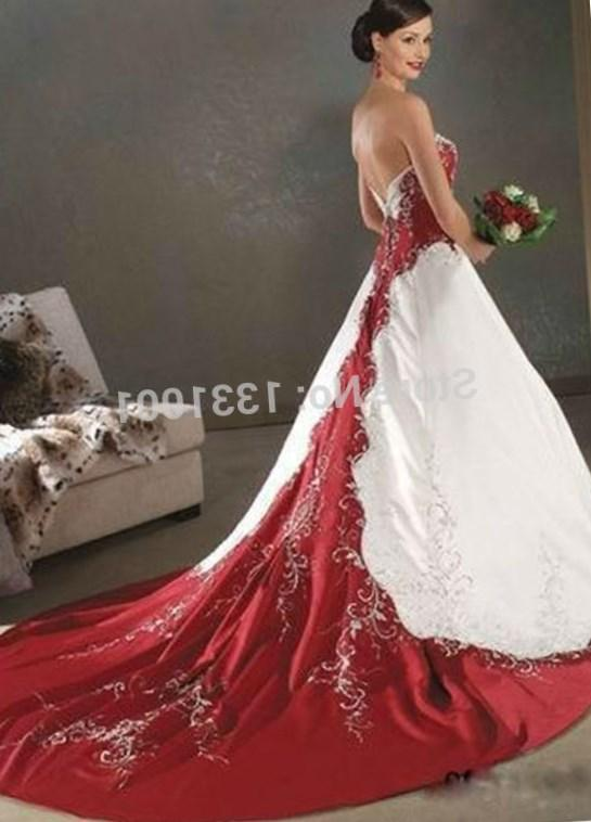 Red and white plus size wedding dresses pluslook collection red wedding dresses plus inspiration design strapless embroidery red and white bridal wedding gowns long plus junglespirit Images