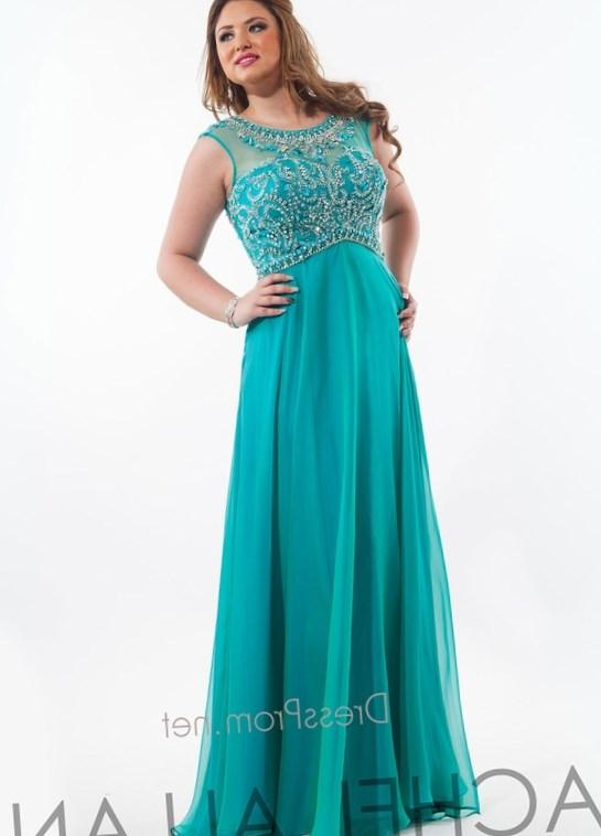 Delicate Beading Short Sleeve Formal Evening Dress Ankle Length Long Black Plus Size Prom Dresses 2017