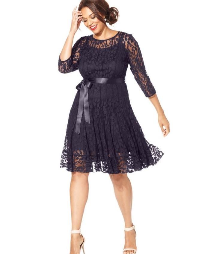 Macy 39 s formal dresses plus size wedding dresses in jax for Macy black dress wear to wedding