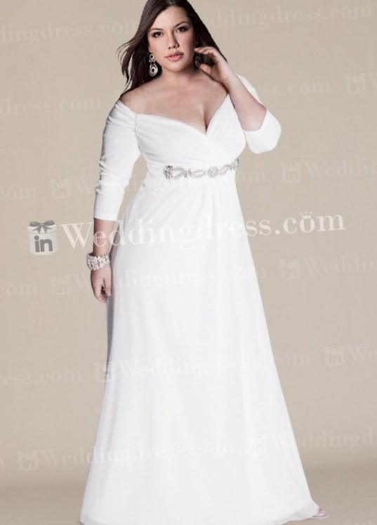 Off The Shoulder Plus Size Wedding Dresses Pluslook Eu