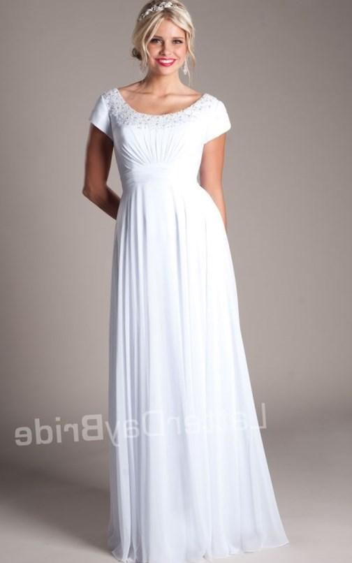 Plus size temple dresses collection for Mormon modest wedding dresses