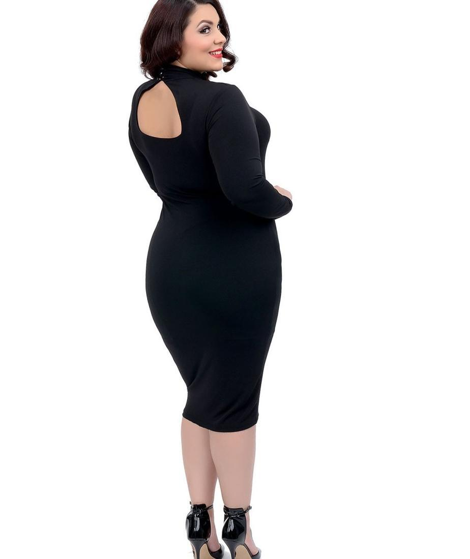Plus Size Tight Dress Pluslook Eu Collection