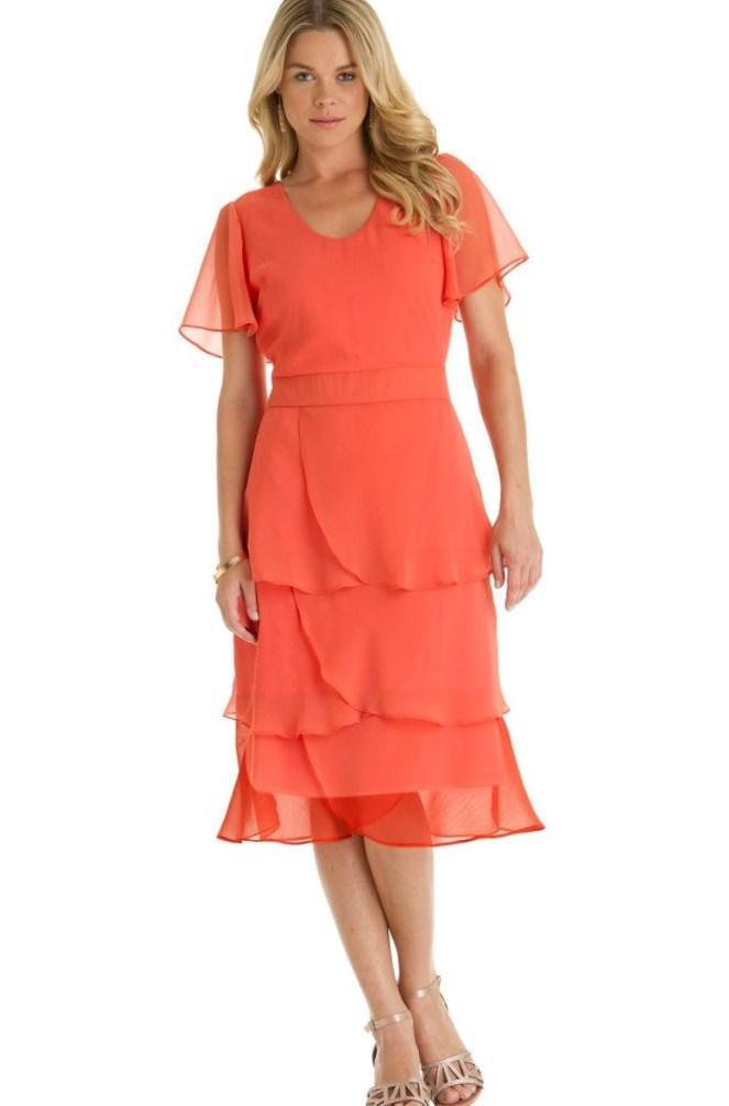 Tiered Dresses Plus Size Pluslook Collection