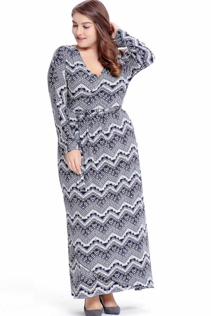 Plus size autumn dress