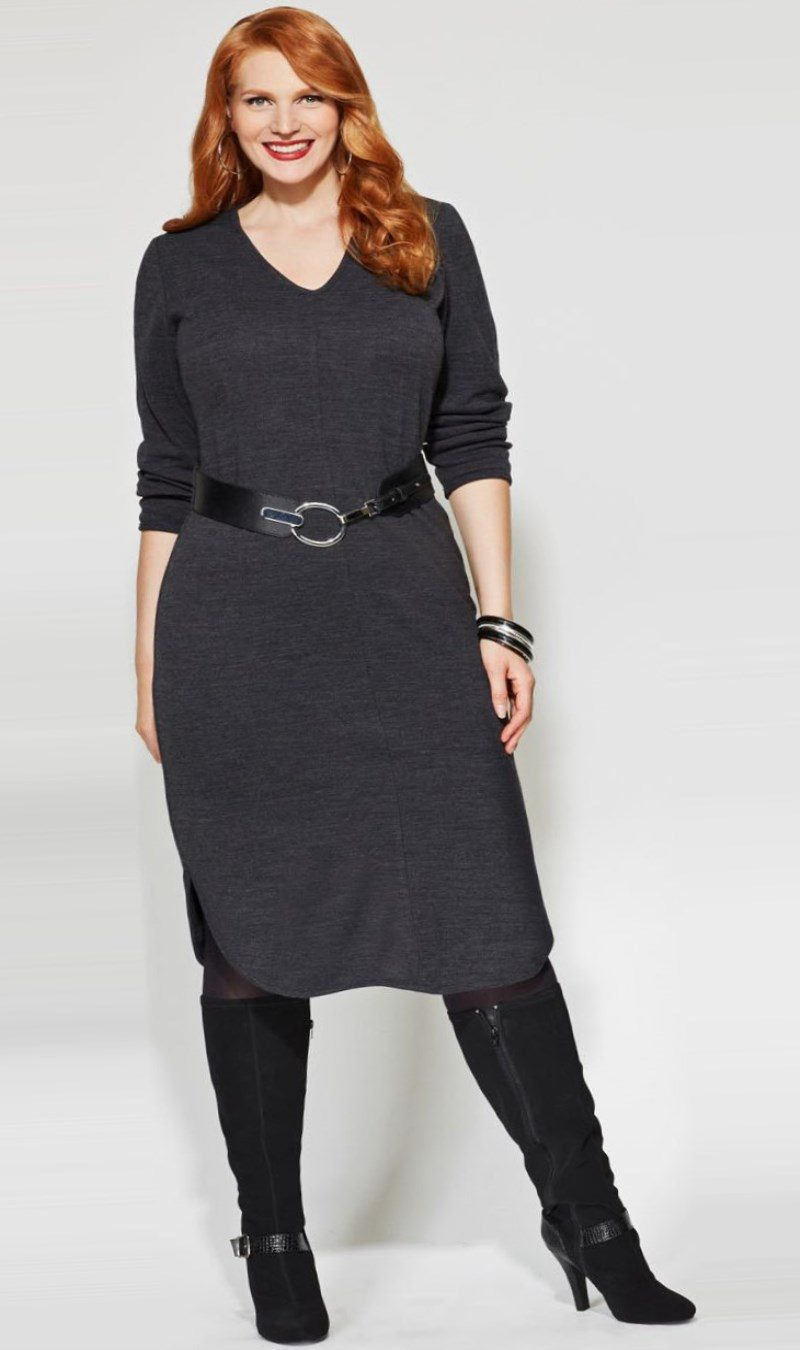 Plus Size Sweater Dresses For Fall 2018 Pluslook Collection