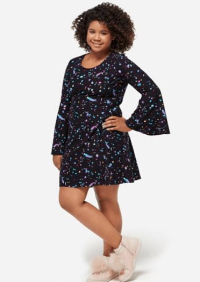 70's Glam Bell Sleeve Dress