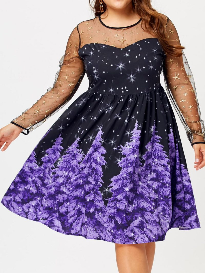 Winter Wonderland Plus Size Christmas Dress