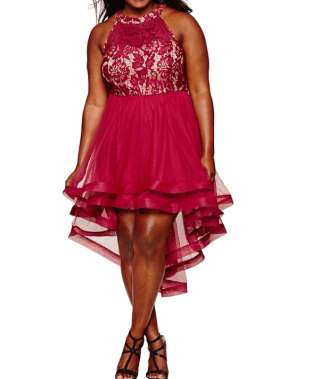 Sleeveless Floral Red in Plus Size
