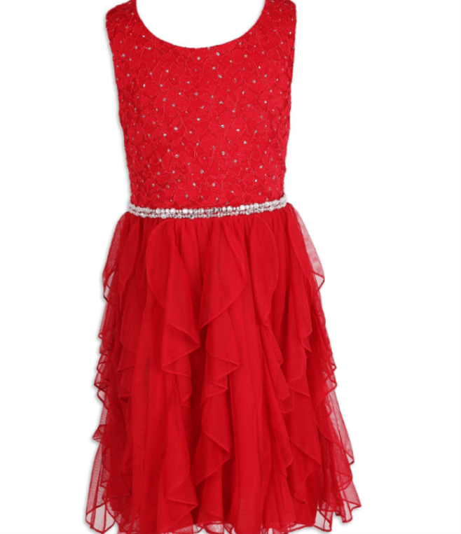 Sleeveless and Fancy in Red