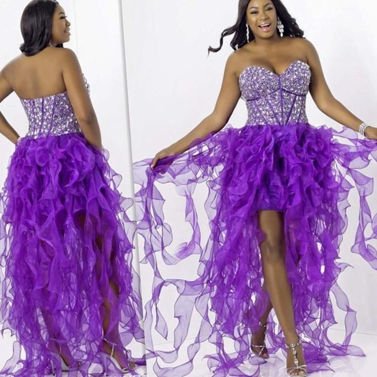 Purple plus size prom dresses - PlusLook.eu Collection