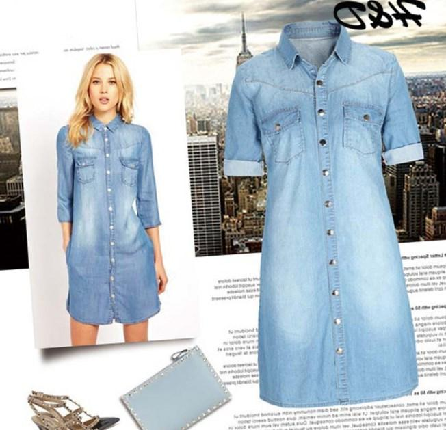 Jean shirt dress plus size - PlusLook.eu Collection