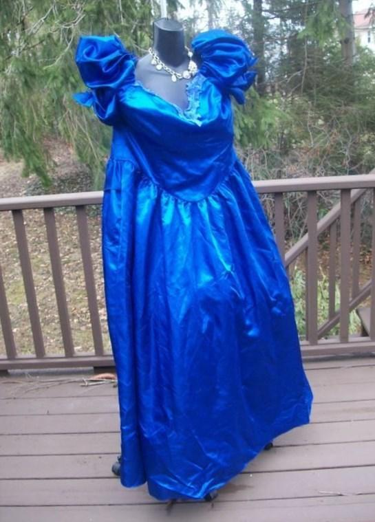 Plus Size 80s Prom Dress in Fuschia with Huge by gottagovintage1, $65.00: Dress Vintage