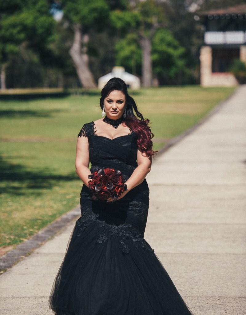 stunning and elegant goth wedding