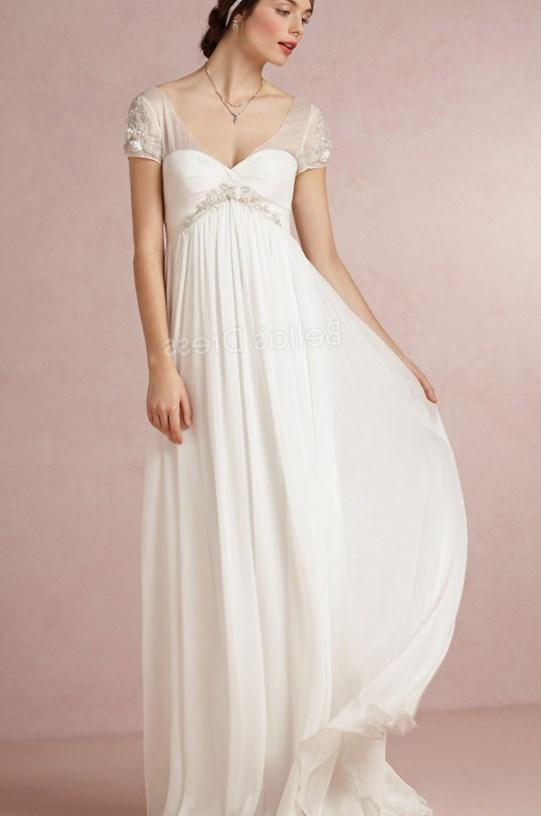 Flattering Beading Sweetheart Empire A Line Lace Up Plus Size Wedding Dress