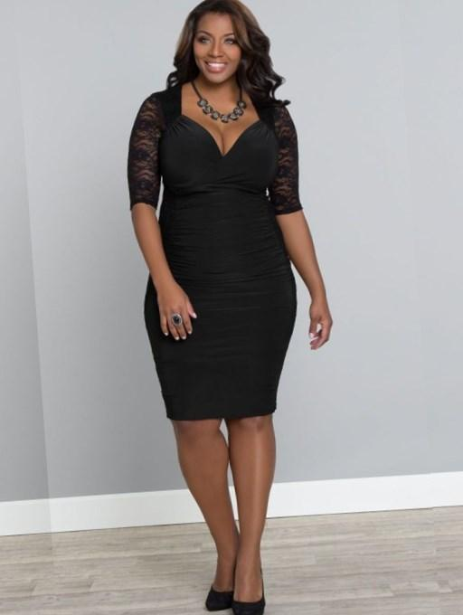 Plus Size Dress With Flower. PrevNext