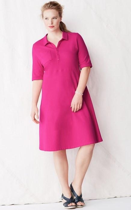 Plus size polo dress - PlusLook.eu Collection