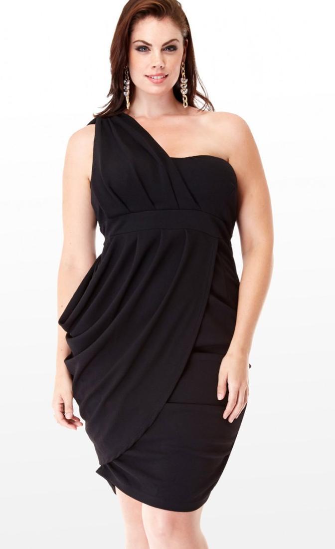 Black plus size club dresses - PlusLook.eu Collection