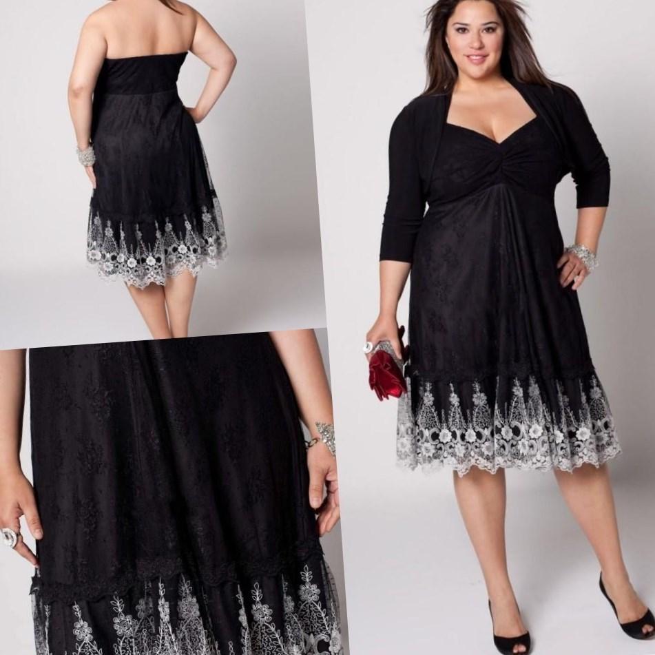 Plus Size Black Formal Party Dresses
