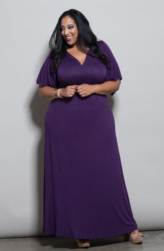 Purple maxi dress plus size - PlusLook.eu Collection