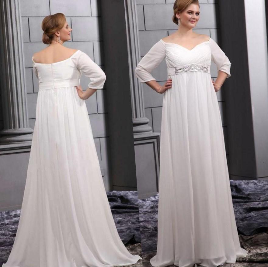 Plus Size Empire Waist Wedding Dress Pluslook Eu Collection