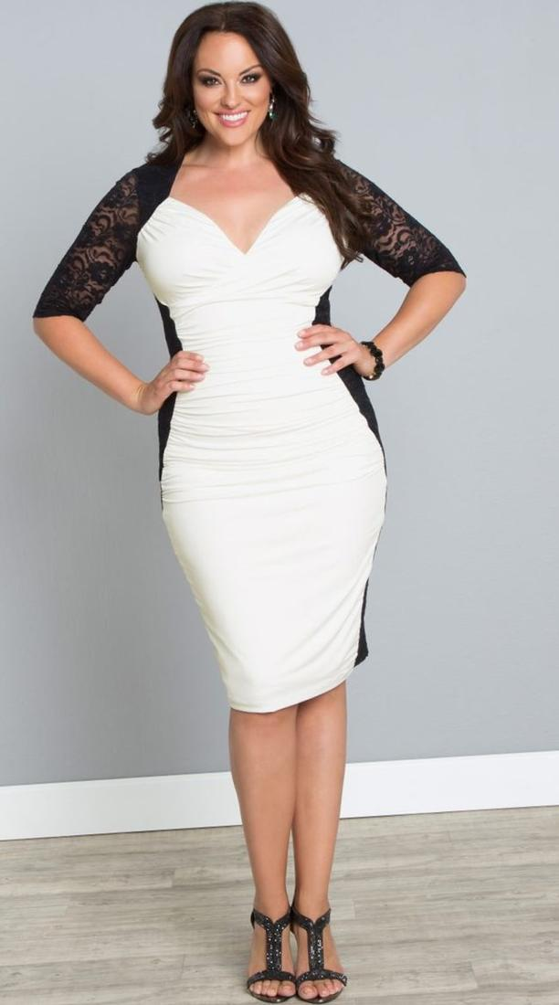 Plus Size All White Party Dresses Pluslook Eu Collection